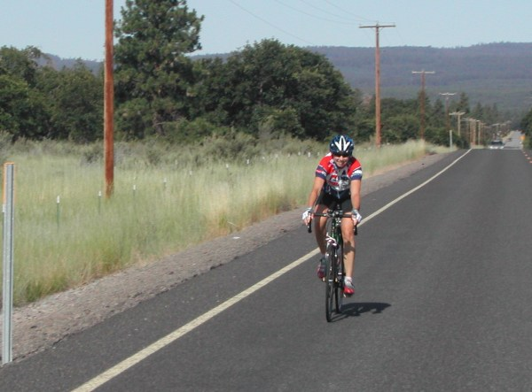 Karen, during the Race Across Oregon