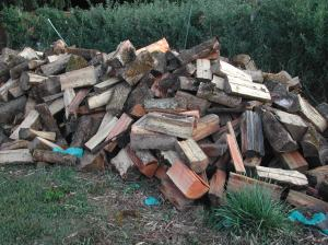 We just got a load of wood for the winter.