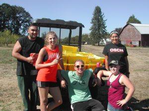 The dry bean harvest crew