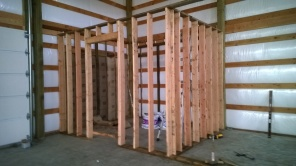 The first room framed up. Lots more followed.